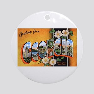 Georgia Greetings Ornament (Round)